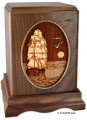 Sailing ship cremation urn