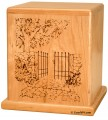 Garden gate Cherry cremation urn