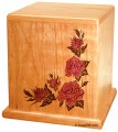Cherry urn with Roses inlay